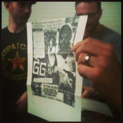 Actual flyer & letter from G.G. Allen. Up for bids at Punk Island benefit auction. #ggallen #punkisland #nyc #music