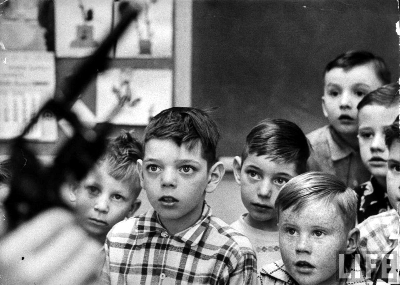 Gun Safety Class at an Indiana School, 1956.  Photo: Grey Villet