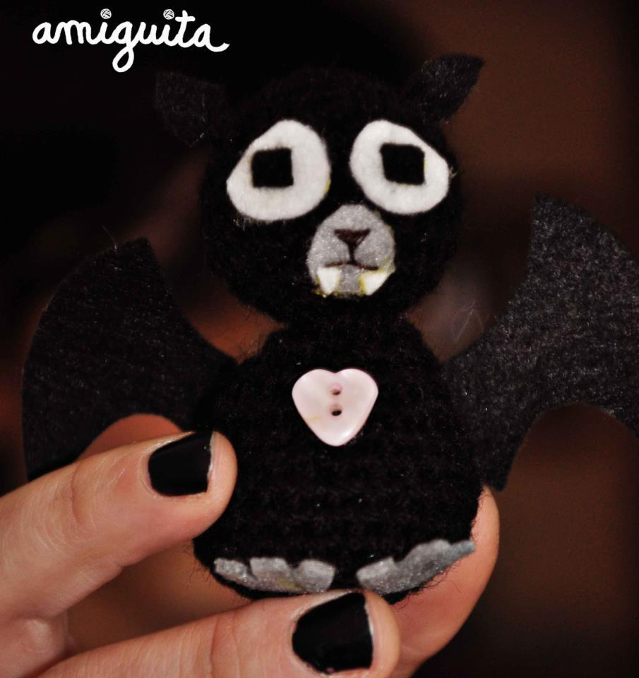 julesvalencia:  My sad bat amigurumi.  Should stop listening to William Fitzsimmons while crocheting cute monsters or they all will be this sad… It's a warm kind of sadness though. Warm as yarn :)  http://www.youtube.com/watch?v=pIdG1JU81N4