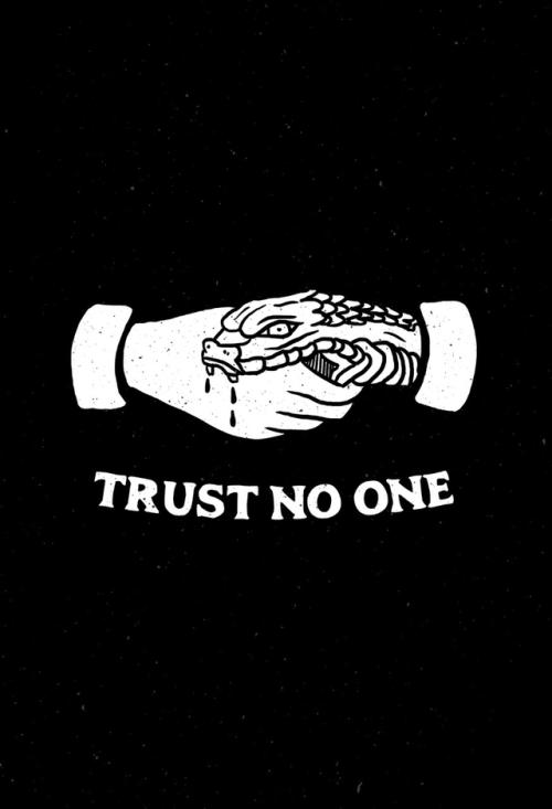 graphic design illustration trust snake handiedan hand shake black motto advice