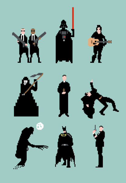 theawkwardgamer:  Men in Black by Eric Fan (Society6)