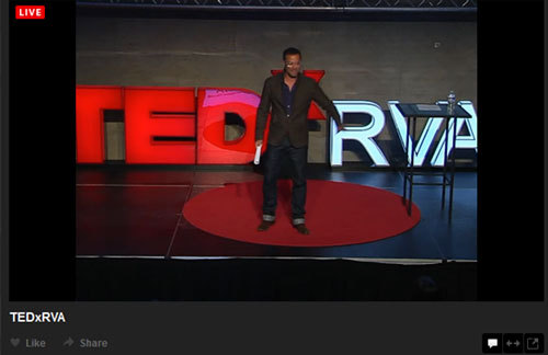 Richmond is a place of creativity! Watch TEDxRVA live