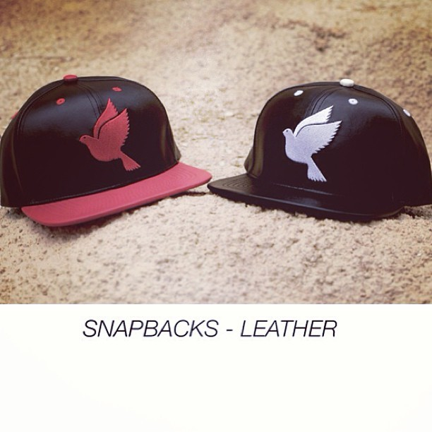 Snapbacks all leather! GWspring/summer13! Out soon! #galagowear #snapback #leather #spring