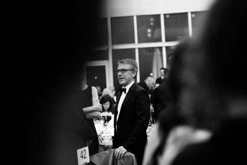 annstreetstudio:  Christoph Waltz at the opening dinner for the Cannes Film Festival…
