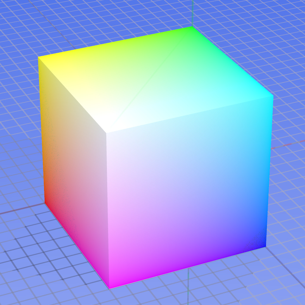 mvths:  The RGB color model mapped to a cube.