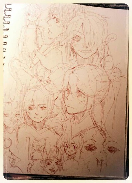 one of the pages i sketched out while i was at the hospital O<-<