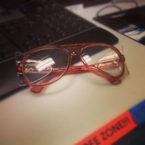 New pair of #retro safety glasses.  (at Nabisco Factory Scent Cloud)