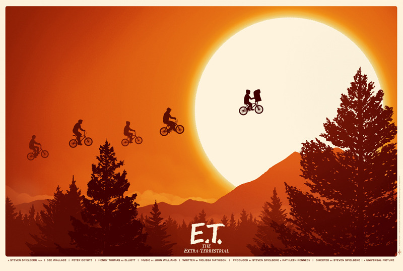 sirmitchell:  My E.T. poster which drops tomorrow on Mondo.
