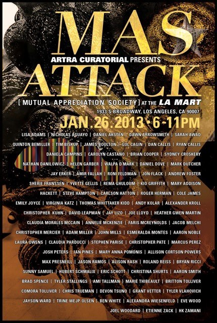 MAS ATTACK LOS ANGELES PAINTING EXHIBITION LA MART, JANUARY 26 from 6-11pm www.devontsuno.com
