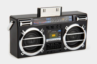 Mini Boombox Speaker for the iPhone and iPod. Find out where to get it…