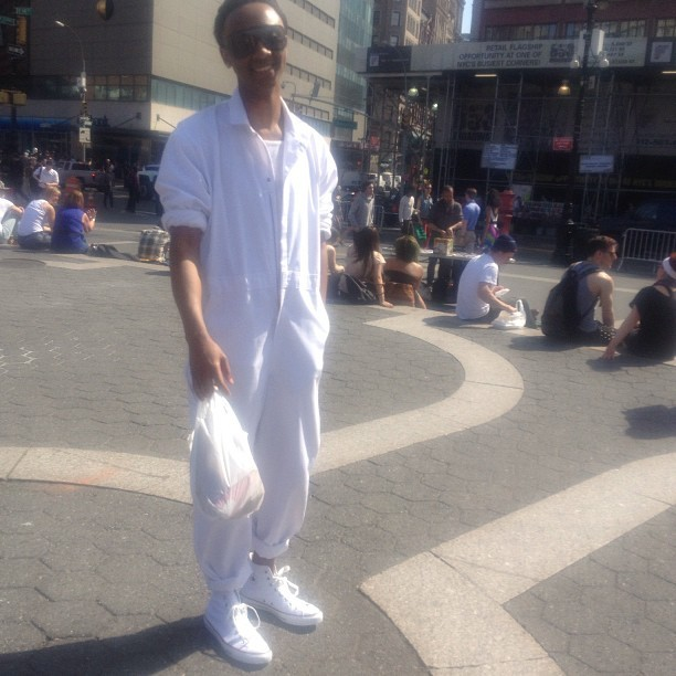 People gagged and I smiled. Lol. All white everything. #luxury #fresh #spring #new #fly  (at Union Square Park)