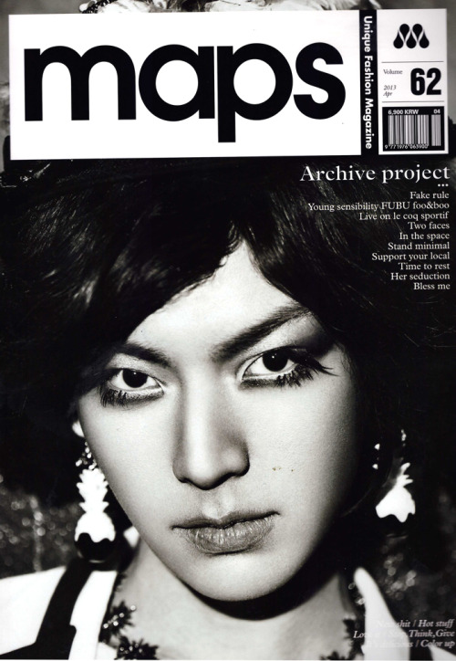 koreanmalemodels:  Ahn Jaehyun on the cover of MAPS, April 2013(crbeyondclo