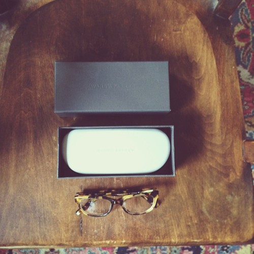 My new glasses came in! The @warbyparker Ainsworth.