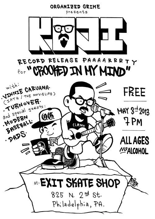 kojisaysaloha:  Tonight's event at Exit Skateshop is ALL AGES. There will be no alcohol permitted. Space is limited. Please be respectful to the shop, staff, bands, and other attendees. The show is free, so try and pick up something from everybody.  REALLY BUMMED i can't make it out for this tonight. What a fun night! How about i book a second night of this in my basement? plz?
