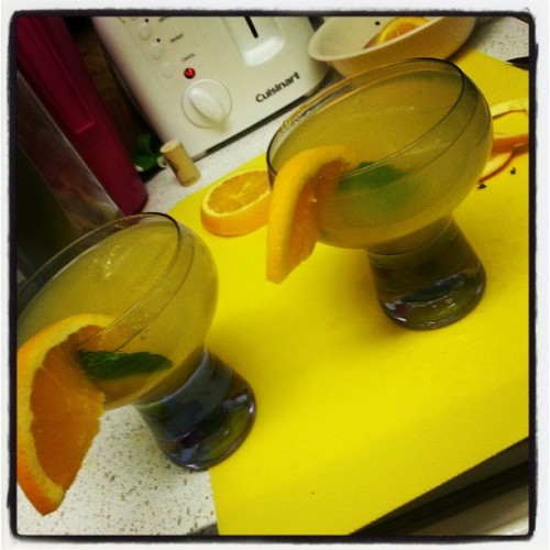 Yummy drinks I whipped up the other night :)