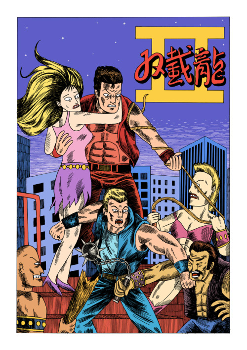 I've been working on my version of the Japanese Double Dragon 2 flyer between jobs recently. Here's the final version.