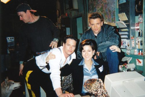 "fuckyeahpaulgross:  Ramona Milano, Callum Keith Rennie and Paul Gross on the Due South set. In a 2011 interview, Ramona had the following to say about the series and the man himself:  ""Due South was an untouchable experience because we all got along. Paul was fantastic because he recognized a good idea whether it was conceived by him or not. His ego was not so fragile that he wouldn't do something for the benefit of the show because it hadn't been written or conceived by him. He would laugh hysterically at an idea then all of a sudden he'd come walking down the hall with re-writes and we'd find ourselves incorporating the joke in to the script. I loved that about him!""  — Ramona Milano, the Eerie Digest (July 2011)"