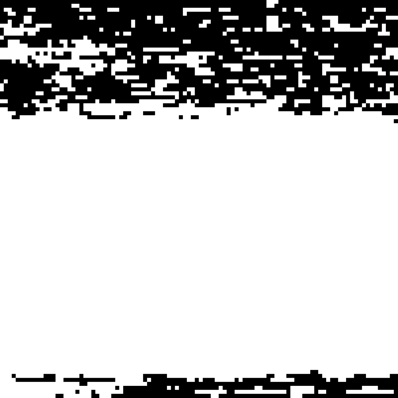 A minimalist pixel representation of VHS distortion.