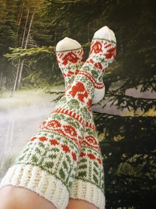 socks knitted socks knee high socks fair isle nordic knitting knitting knitters of tumblr