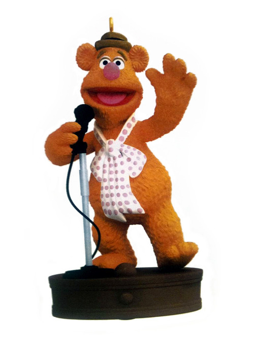 Each year, Hallmark releases a new Muppet Christmas ornament. This year, you can put Fozzie Bear on you tree!