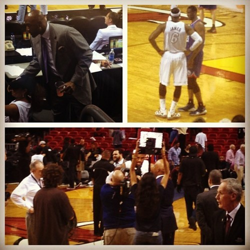 🔥Miami Heat Game!!!🔥 Got To See Alonzo Mourning/Pat Riley Up Close & All My Heat Players!!! Great Game!!! #love #instagood #me #cute #tbt #photooftheday #instamood #iphonesia #picoftheday #igers #girl #beautiful #tweegram #instadaily #summer #instagramhub #follow #iphoneonly #bestoftheday #igdaily #happy #picstitch #webstagram #sky #fashion #miami #miamiheat #nba #fun #smile