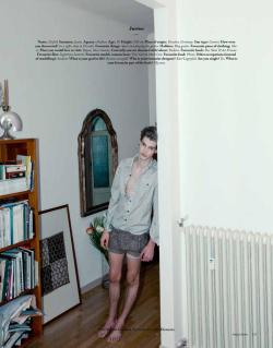 "Justus Eisfeld in ""Models by Domenico Cennamo"" for Various Editorials"