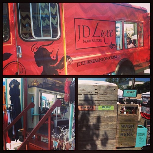 We're open! We're at 8400 Melrose Place in #Weho! Here til' 2PM! 🎀 #jdluxe #sundayfunday #shopping #love  (at Melrose Place Farmer's Market)