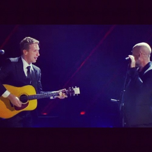 "Surprise! Chris Martin brings special guest Michael Stipe out of retirement (briefly!) for a moving performance of ""Losing My Religion.""   Did you see it?"