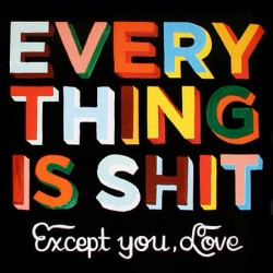 Everything is Shit by mr @steveespopowers #typeverything #typography #type #lettering by typeverything http://bit.ly/18fWSDd