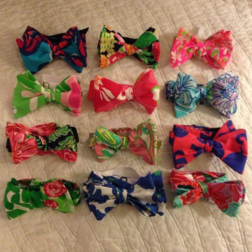 lawandtea:  A bow tie tying machine 🎀 how many of your favorite prints can you spy? #lillypulitzer #preppypinkshop #etsy #2013