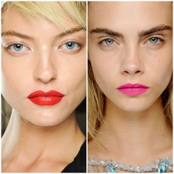 Today's matte lip inspiration - Prada & Giles Spring 2013