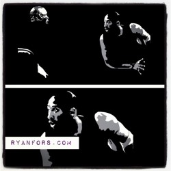 Work in Progress. MJ vs Kobe. Gonna be about 4 feet wide on wood. #kobe #jordan #stencil #igsneakercommunity #ryanfors