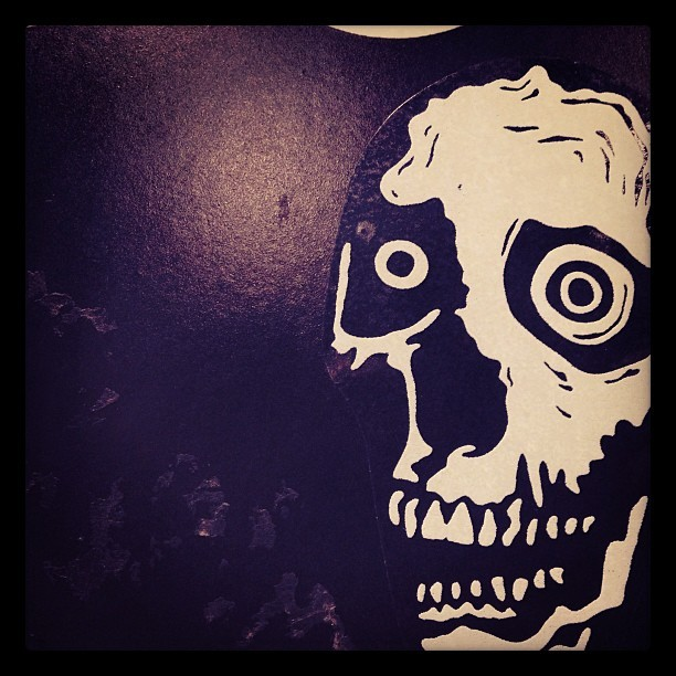 Being seeing you. #nyc #skull #urbanart #streetart #sticker