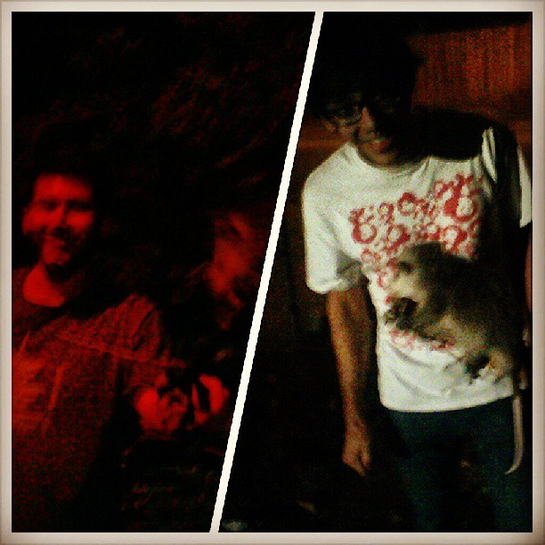 #tbt that time Dustin, @zamcclellan and I caught a baby opossum. #MZD #NHLB #crewlife