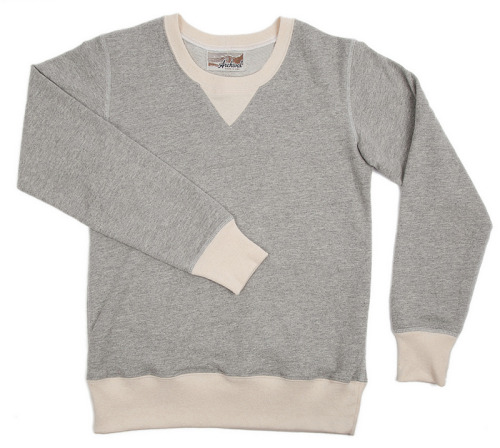 In love with Archival Clothing's new Women's Sweatshirt in Gray with natural ribbing.  Just a plug for my work station.
