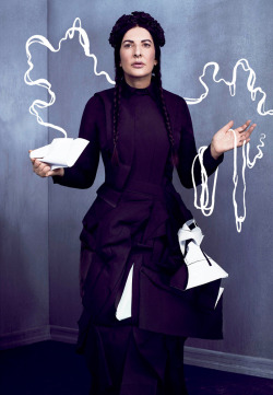 anthropologyyy:  Marina Abramovic in the current issue of V.