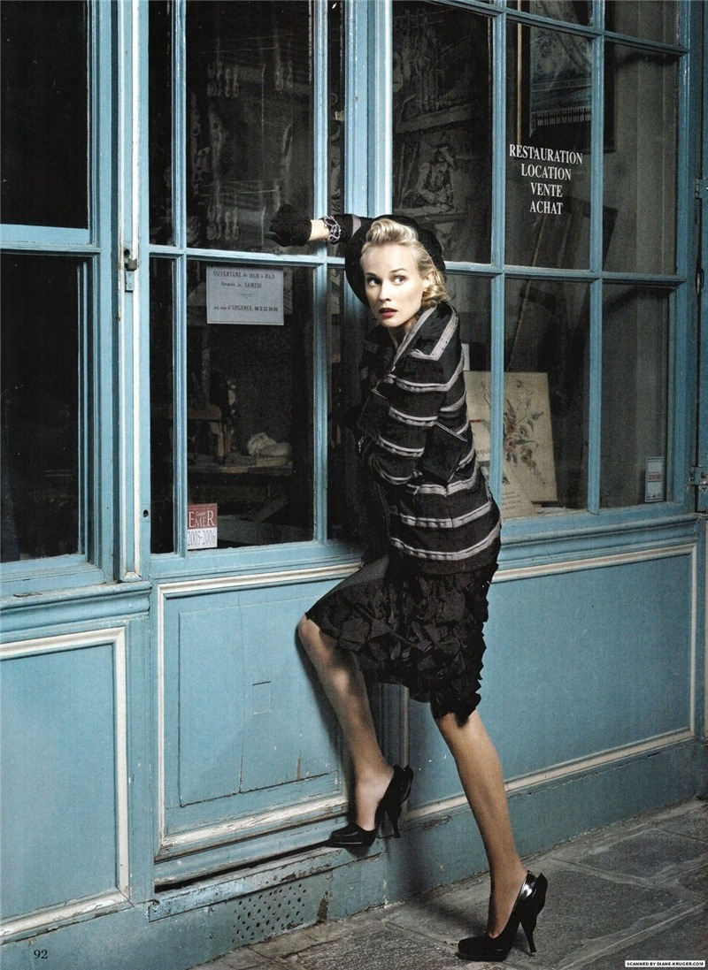 thefashionatelier:  Diane Kruger photographed by Karl Lagerfeld for Amica Germany January 2009