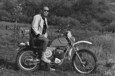 Hunter S. Thompson at his ranch on his Penton motorcycle circa 1976. Did you know Hunter actually had his ashes packed in shells and blown into the sky from 150 feet up at his funeral? Fun fact of the day. [ more tagged Hunter S. Thompson ]