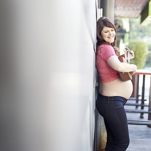 Last one for now! Photo by Lacey Harvey #maternity #shoot #austin #texas #nofilter #ukulele #uke #music #mama #harveyink