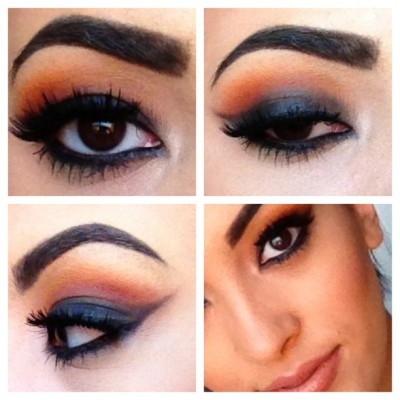 Closer look at previous post. #picstitch #makeup #lashes #eyebrows #nofilter #eyeshadow #vegas_nay