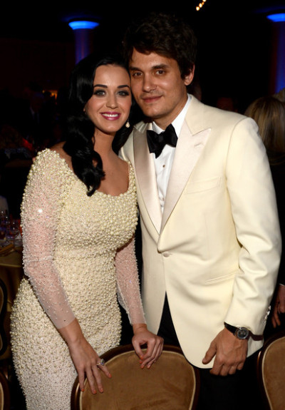 Katy Perryand boyfriendJohn Mayer at the Clive Davis Pre-Grammy Gala…