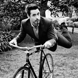 9gag:  Hey there! Just Robert riding his bike 🚲