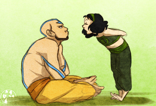 "pugletto:  Part of the Uncle!Aang AU | ""Mama said your form's gotten weak and called you a lily-liver."""