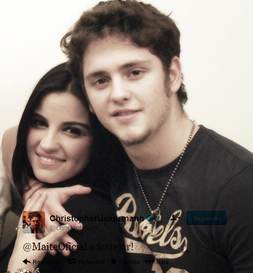 levyrroniarabfans:   Maite Perroni @MaiteOficial   y Christopher Uckermann  @christopheruck { Feliz Cumple Maite }