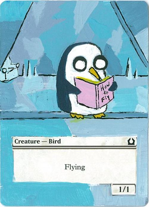 simplyjet:  My 2nd Bird token alter with Gunter. Moar!
