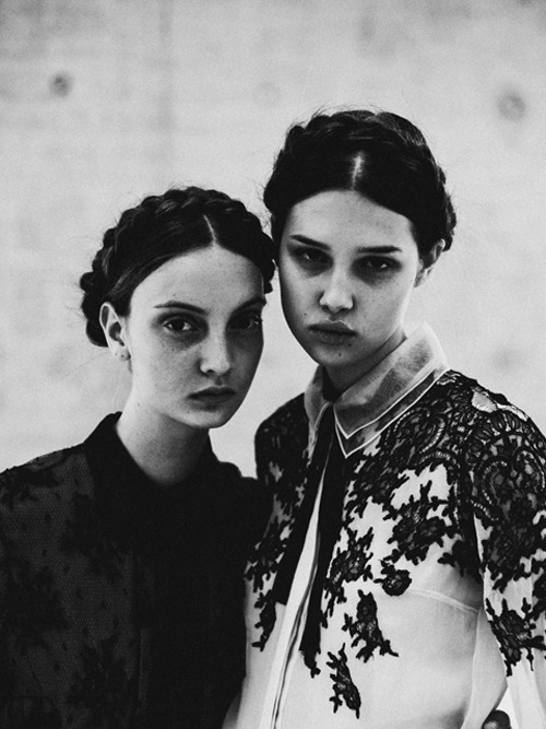 lazyteen:  Anaïs Pouliot and Codie Young shot by Chadwick Tyler and styled by Valentina Ilardi Martin for Grey Magazine, issue V