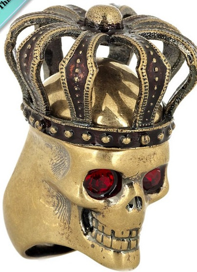 londonwarrior:  Warrior ring, McQueen with Swarovski eyes…  Only slightly ostentatious…