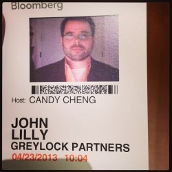 On BloombergTV with Emily Chang in a few. Looking at my badge picture, I seem to have been incognito last time. :-)
