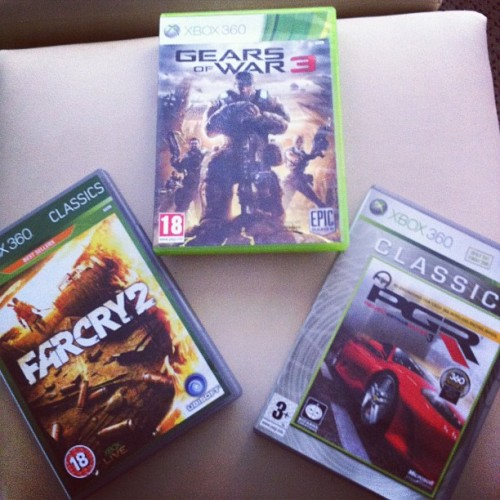 All part of my vacation !!! Awesome !!!!! #GearsOfWar3 #Farcry2 #PGR #Gamer