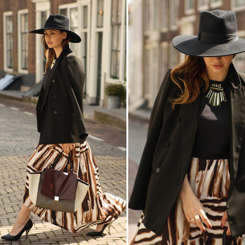 that dress and outfit is so beautiful! love the combination.IN THE FLOW (by Iris .)